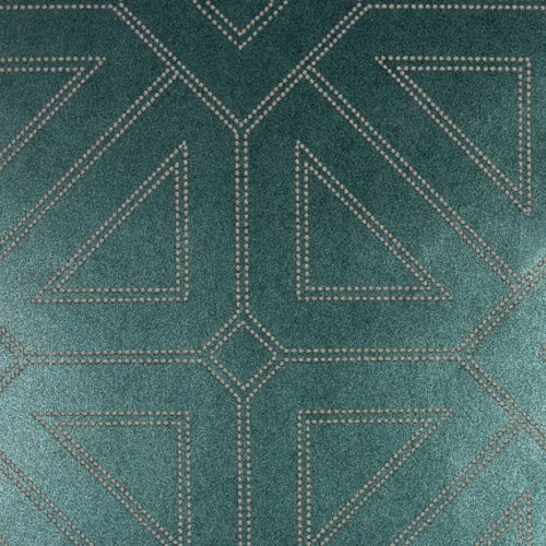 2902-87337 Brewster Wallcovering A Street Prints Theory Voltaire Geometric Wallpaper Dark Green