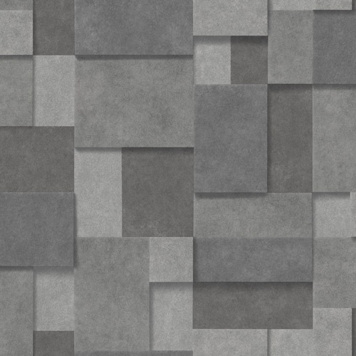 2922-25354 Brewster Wallcovering A Street Prints Trilogy Duchamp Metallic Squares Wallpaper Dark Grey