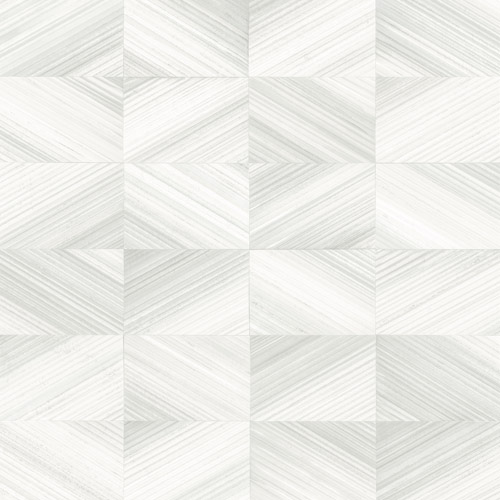 2922-25378 Brewster Wallcovering A Street Prints Trilogy Stratum Geometric Wood Wallpaper White
