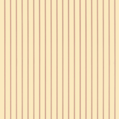 SY33932 Patton Wallcovering Norwall Simply Stripes 3 Ticking Stripe Wallpaper Red