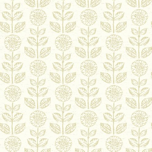 3119-13513 Brewster Wallcovering Chesapeake Kindred Dolly Floral Wallpaper Beige