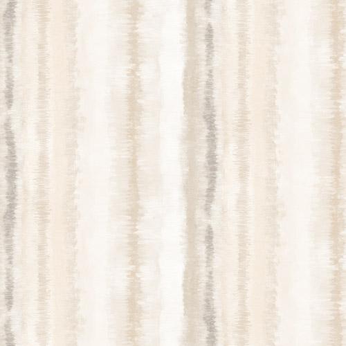 FW36810 Patton Wallcovering Norwall Fresh Watercolors Frequency Stripe Wallpaper Beige