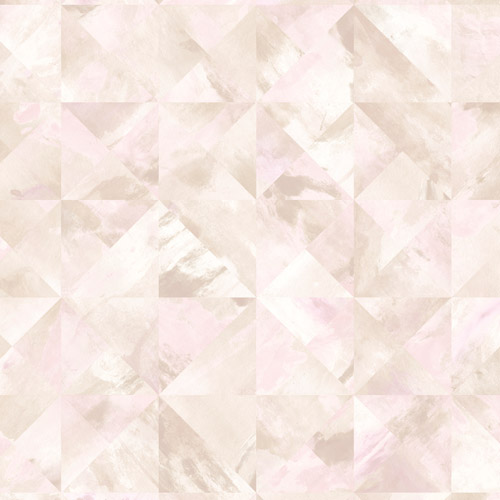 FW36820 Patton Wallcovering Norwall Fresh Watercolors Mosaic Wallpaper Pink