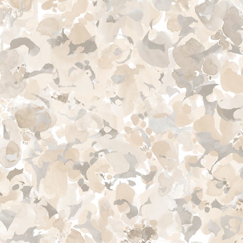 FW36827 Patton Wallcovering Norwall Fresh Watercolors Bloom Wallpaper Brown