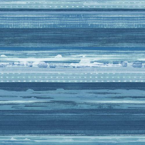 RY31302 Seabrook Wallcovering Boho Rhapsody Horizon Wallpaper Blue
