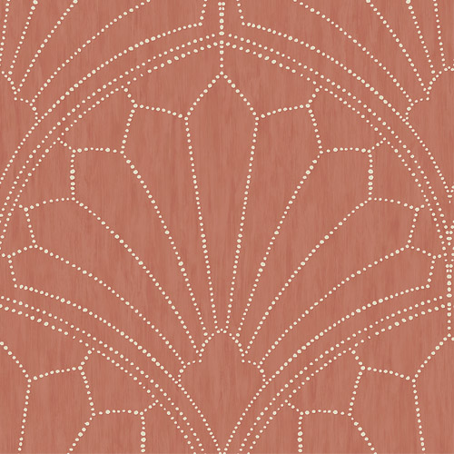 RY31501 Seabrook Wallcoverings Boho Rhapsody Scallop Wallpaper Red