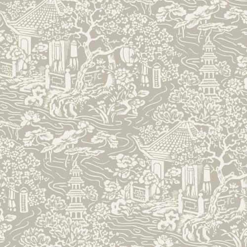AF6574 York Wallcoverings Ronald Redding Tea Garden Chinoiserie Wallpaper Beige