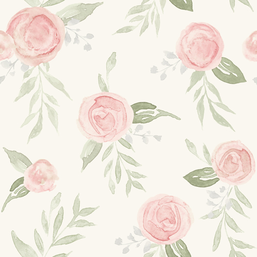 PSW1013RL Magnolia Watercolor Roses Blush Peel and Stick Wallpaper