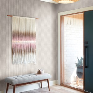 PSW1014RL Magnolia Vantage Point Grey Peel and Stick Wallpaper Room Setting by York Wallcovering