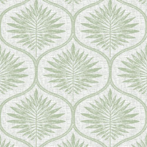 2861-25719 Brewster Wallcoverings A Street Prints Equinox Laurel Ogee Wallpaper Light Green