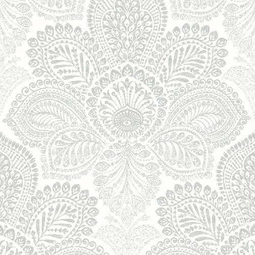 2861-25730 Triumph Medallion Wallpaper Off-White