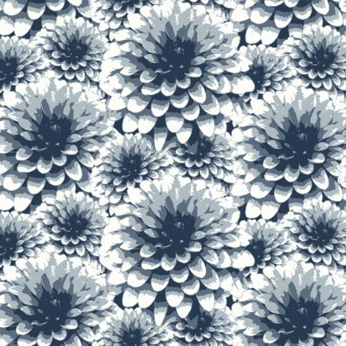 2861-87521 Brewster Wallcovering A Street Prints Equinox Umbra Floral Wallpaper Indigo