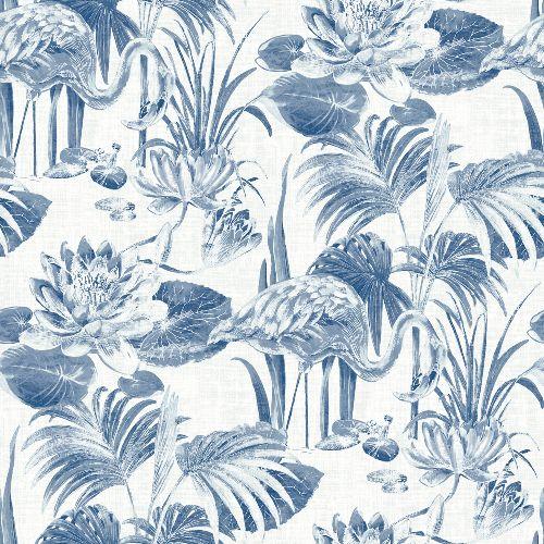 2861-87523 Brewster Wallcoverings A Street Prints Equinox Frolic Lagoon Wallpaper Blue