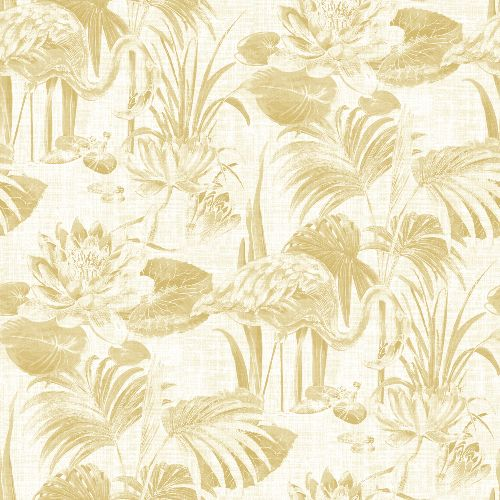 2861-87525 Brewster Wallcoverings A Street Prints Equinox Frolic Lagoon Wallpaper Wheat
