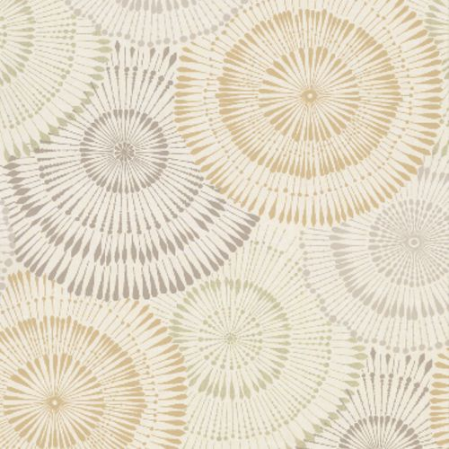2909-AW87739 Brewster Wallcovering Riva Howe Medallions Wallpaper Wheat