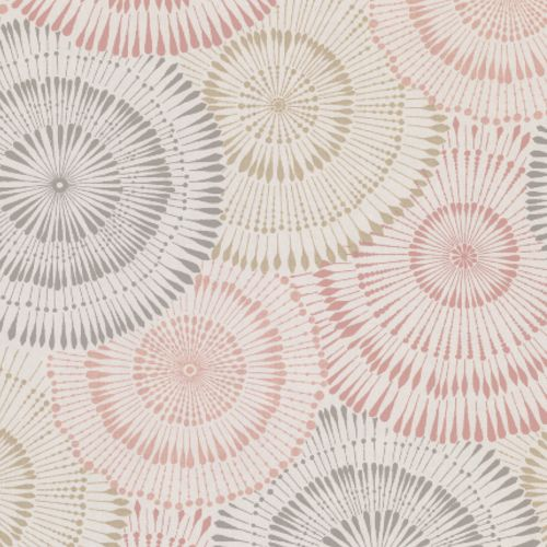 2909-AW87740 Brewster Wallcovering Riva Howe Medallions Wallpaper Coral