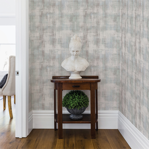2909-IH-23002 Brewster Wallcovering Riva Winwood Distressed Texture Wallpaper Light Grey Room Setting