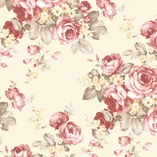 AF37702 Patton Wallcoverings Norwall Flourish Grand Floral Wallpaper Red