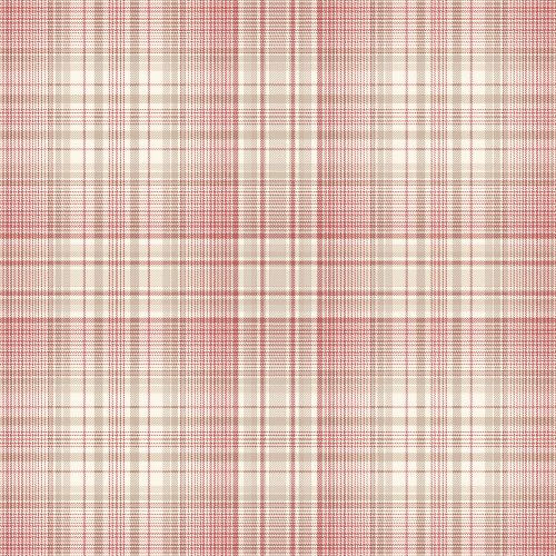 AF37722 Patton Wallcoverings Norwall Flourish Check Plaid Wallpaper Red