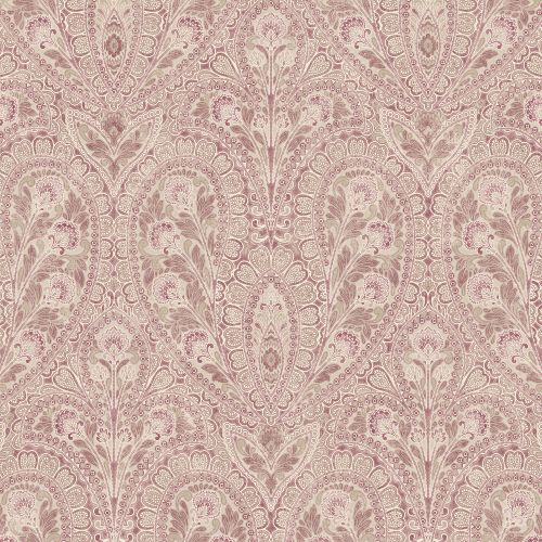 AF37727 Patton Wallcoverings Norwall Flourish Ornamental Wallpaper Plum