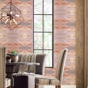 CL2580 York Wallcoverings Impressionist Serene Jewel Wallpaper Orange Room Setting