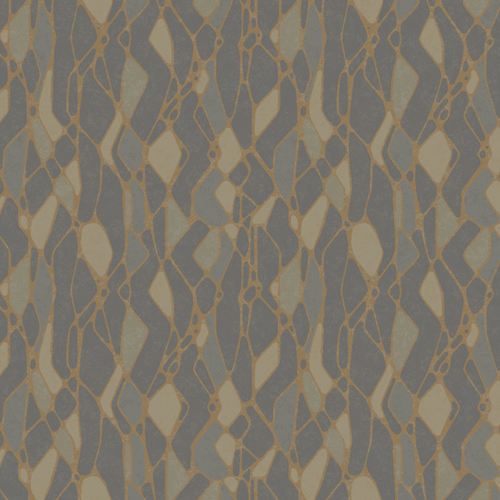 NA0511 York Wallcoverings Candice Olson Botanical Dreams Stained Glass Wallpaper Dark Grey