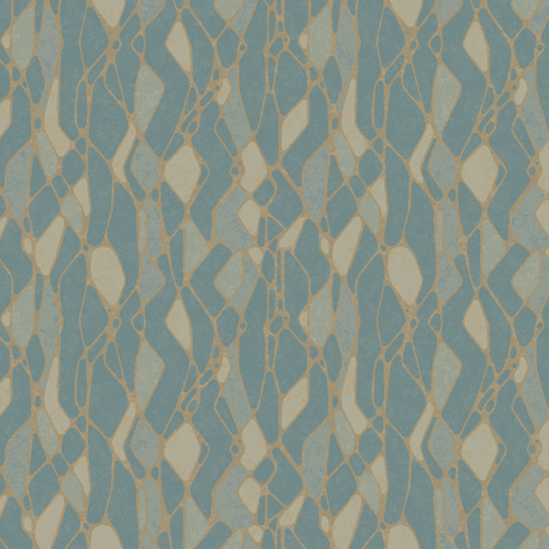 NA0512 York Wallcoverings Candice Olson Botanical Dreams Stained Glass Wallpaper Blue