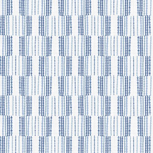 2903-25806 Brewster Wallcoverings A Street Prints Bluebell Bergen Geometric Linen Wallpaper Blue