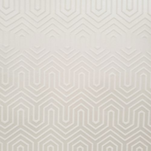 GM7500 York Wallcoverings Geometric Resource Labyrinth Flock Wallpaper White