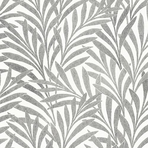 HC7502 York Wallcoverings Ronald Redding Handcrafted Naturals Tea Leaves Stripe Wallpaper Black