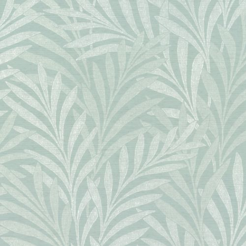 HC7504 York Wallcoverings Ronald Redding Handcrafted Naturals Tea Leaves Stripe Wallpaper Blue