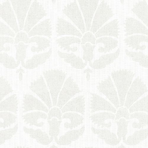 HC7572 York Wallcoverings Ronald Redding Handcrafted Naturals Ottoman Fans Wallpaper Lily White