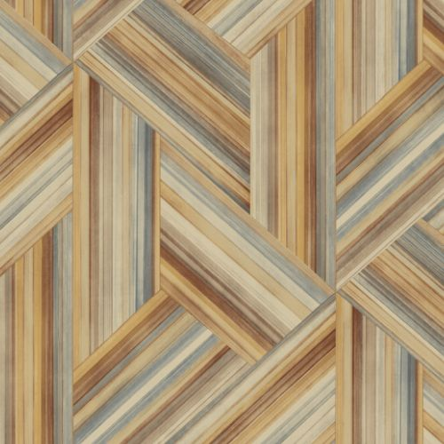 LW50106 Seabrook Wallcoverings Living With Art Woven Geometric Wallpaper Earth