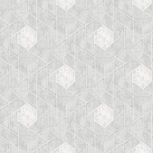 2964-25902 Brewster Wallcoverings A Street Prints Scott Living Granada Geometric Wallpaper Light Grey
