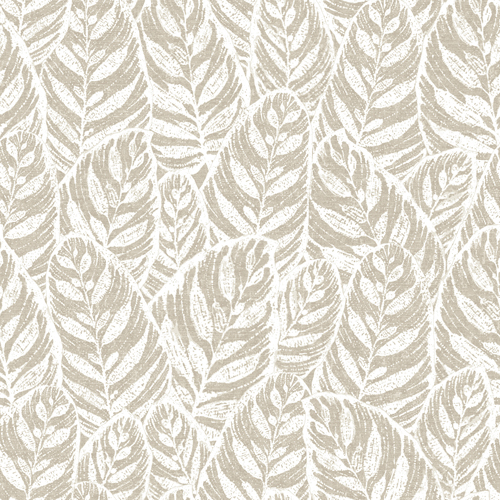 2964-25926 Brewster Wallcoverings A Street Prints Scott Living Del Mar Botanical Wallpaper Beige