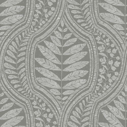 2964-25951 Brewster Wallcoverings A Street Prints Scott Living Juno Ogee Wallpaper Dark Grey