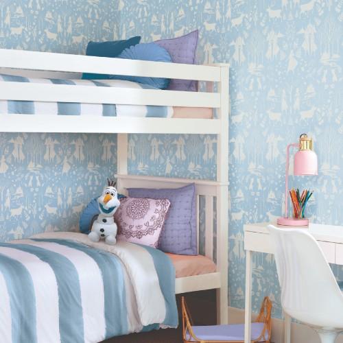 DI1012 York Wallcoverings Disney Kids 4 Disney Frozen 2 Nordic Wallpaper Blue Room Setting