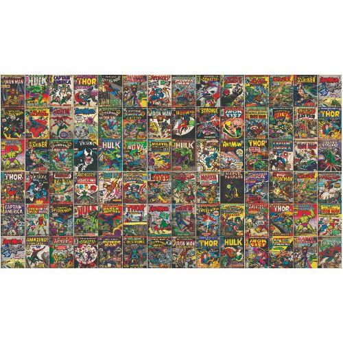 RMK11410M York Wallcoverings Disney Kids 4 Marvel Comic Cover Peel and Stick Mural