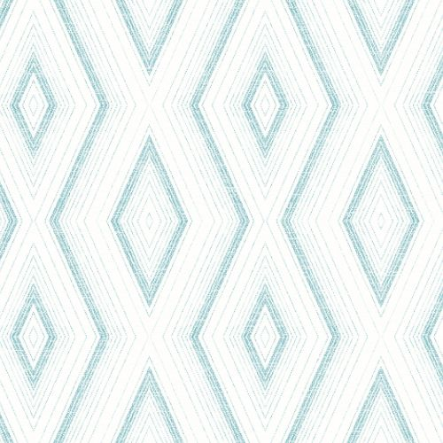 3120-13661 Brewster Wallcoverings Chesapeake Sanibel Sun Kissed Collection Santa Cruz Geometric Wallpaper Turquoise