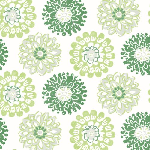 3120-13702 Brewster Wallcoverings Chesapeake Sanibel Sun Kissed Collection Sunkissed Floral Wallpaper Green