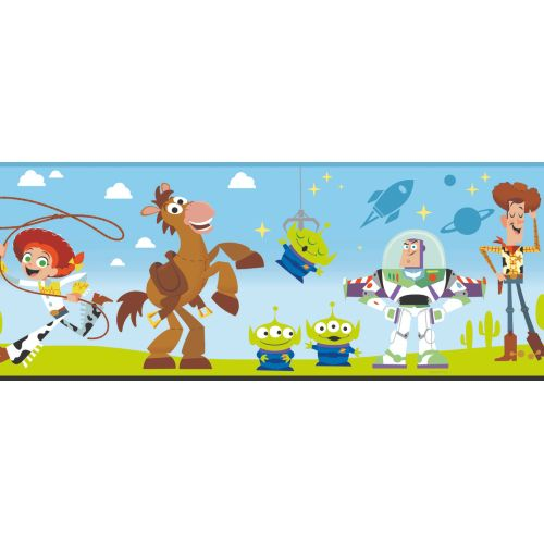 DI1018BD York Wallcoverings Disney Kids 4 Disney Pixar and Toy Story 4 Border Green