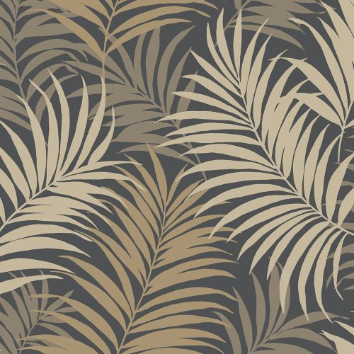 LN10110 Seabrook Wallcoverings Lillian August Via Palma Botanical Wallpaper Wrought Iron