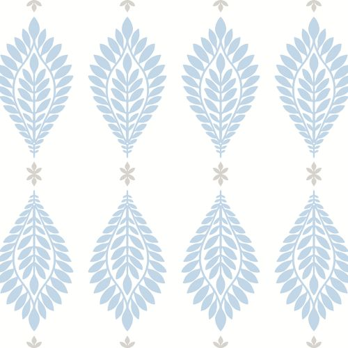 LN10602 Seabrook Wallcoverings Lillian August Mirasol Palm Frond Wallpaper Carolina Blue