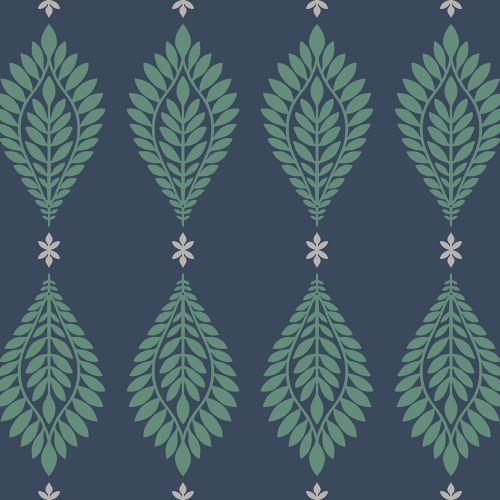LN10612 Seabrook Wallcoverings Lillian August Mirasol Palm Frond Wallpaper Midnight