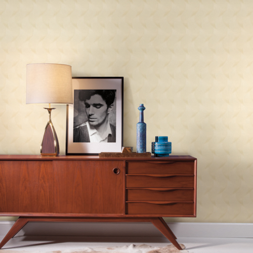 83640 York Wallcoverings Urban Oasis Genie Wallpaper Cream Room Setting