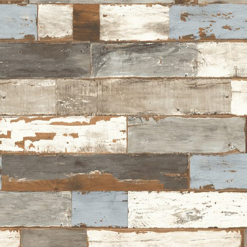 NW30700 Seabrook Wallcoveirngs NextWall Colorful Shiplap Peel and Stick Wallpaper
