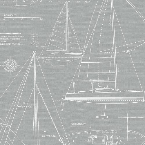 NW32908 Seabrook Wallcoverings NextWall Yacht Club Peel and Stick Wallpaper