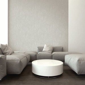 RL61407 Seabrook Wallcoverings Retro Living Marsha Wallpaper Grey Room Setting