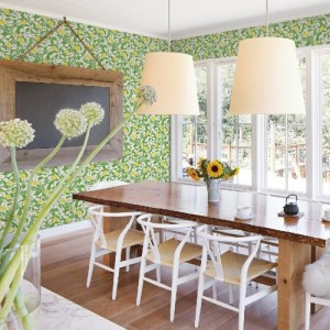 2969-26023 Brewster Wallcoverings A Street Prints Pacifica Loretto Citrus Wallpaper Lime Room Setting