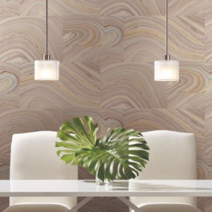 PSW1093RL York Wallcoverings Simply Candice Onyx Peel and Stick Wallpaper Purple Room Setting